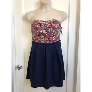New with Tags. Xhilaration Strapless Dress. Size L